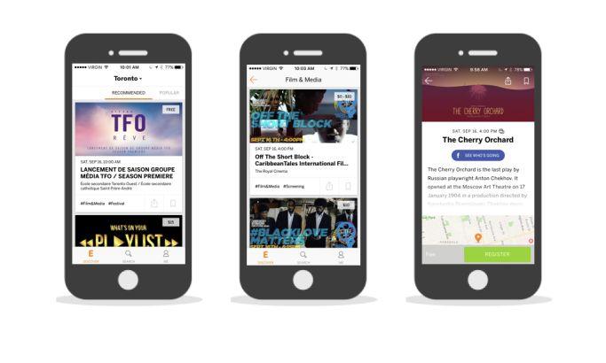 Eventbrite Clean App Design