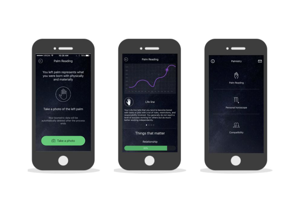 Palmistry Minimal App Design