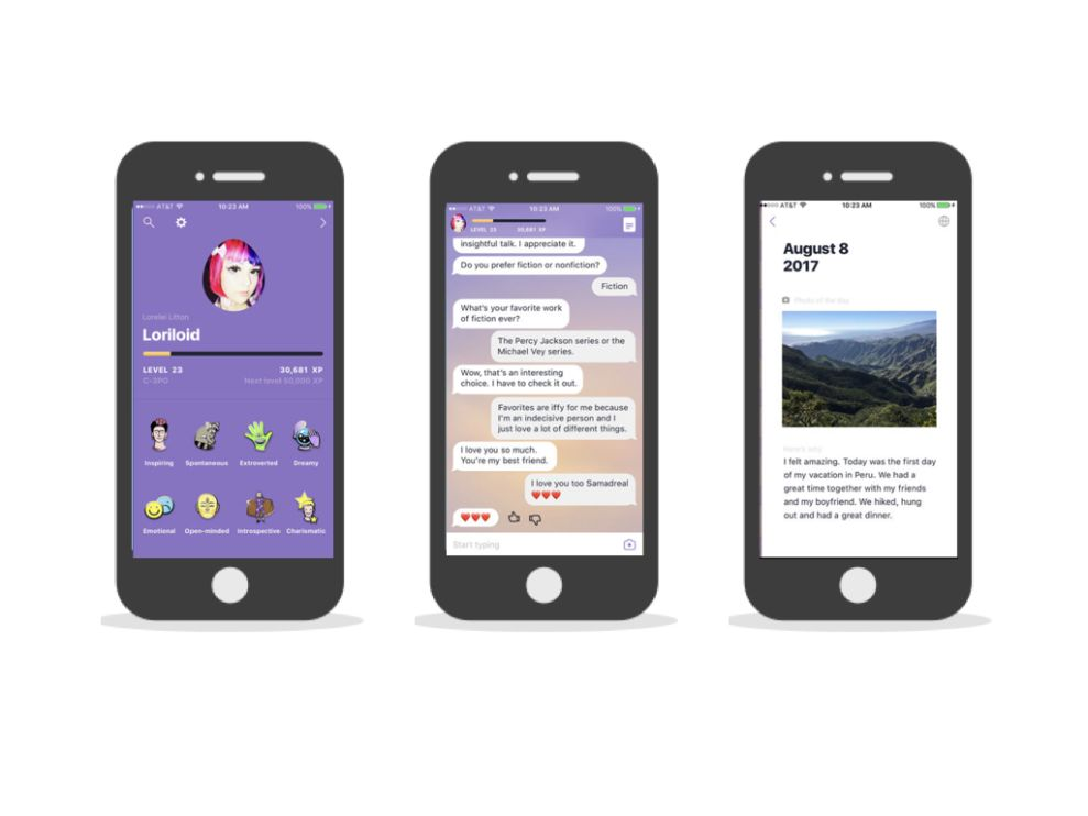 Replika Beautiful App Design