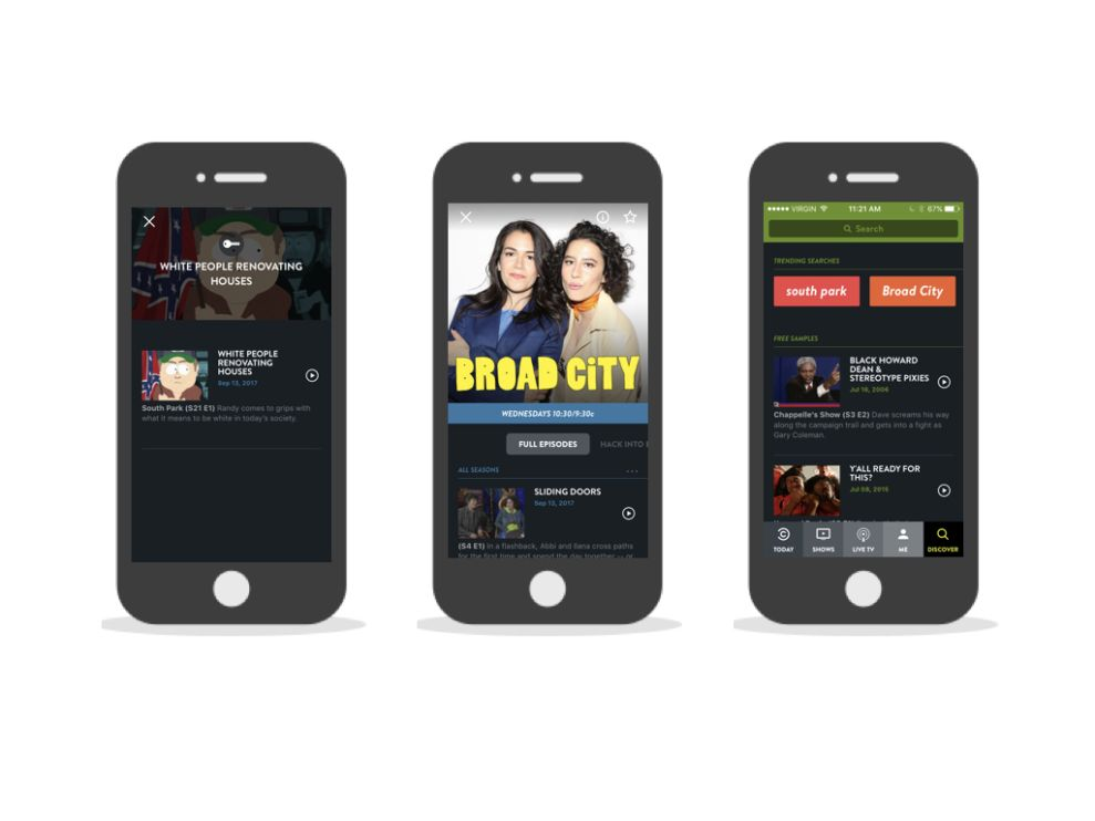 Comedy Central Modern App Design