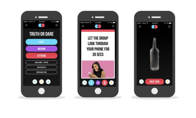 Truth or Dare Playful App Design