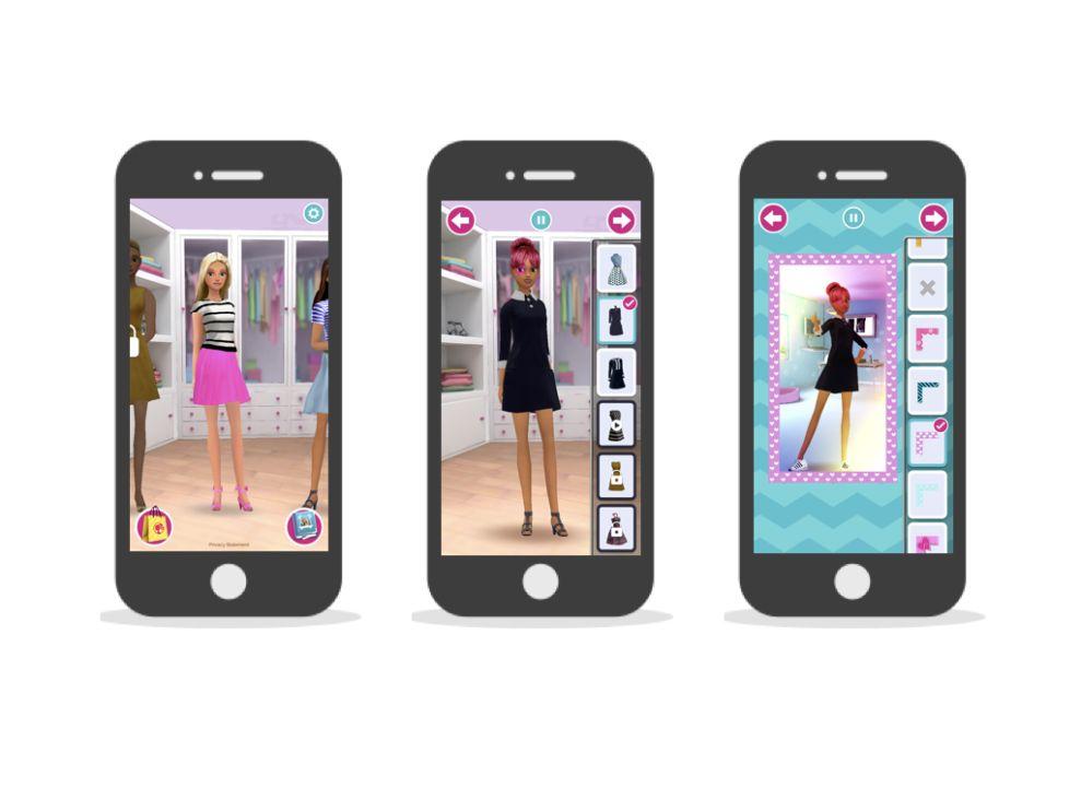 Barbie Fashion Closet Playful App Design