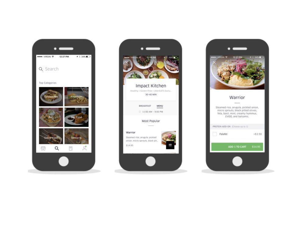 UberEATS Beautiful App Design
