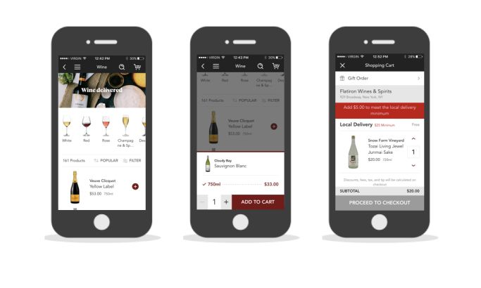 Minibar Elegant App Design