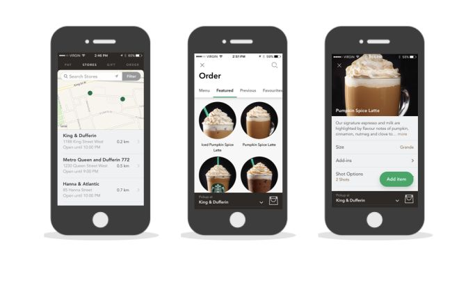 Starbucks Clean App Design