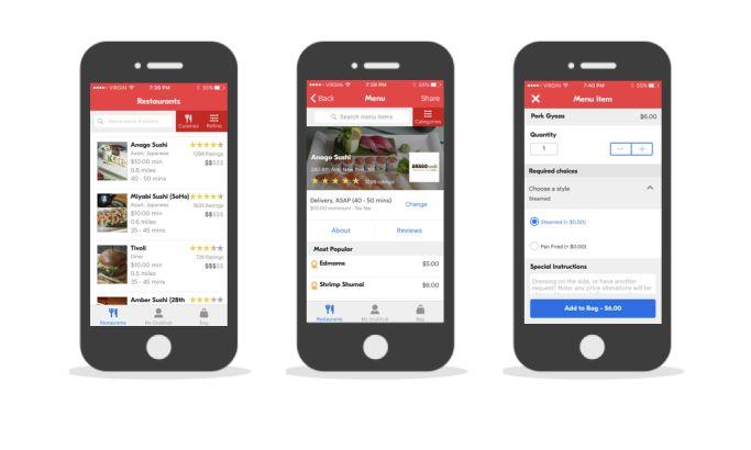 Grubhub Minimalist App Design