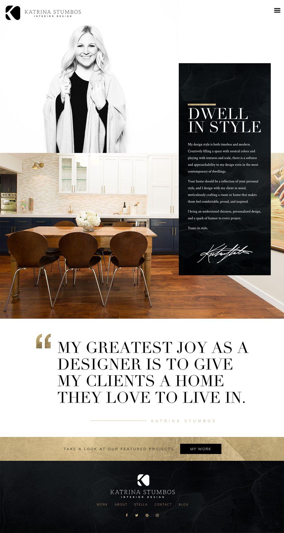Katrina Stumbos Elegant Homepage