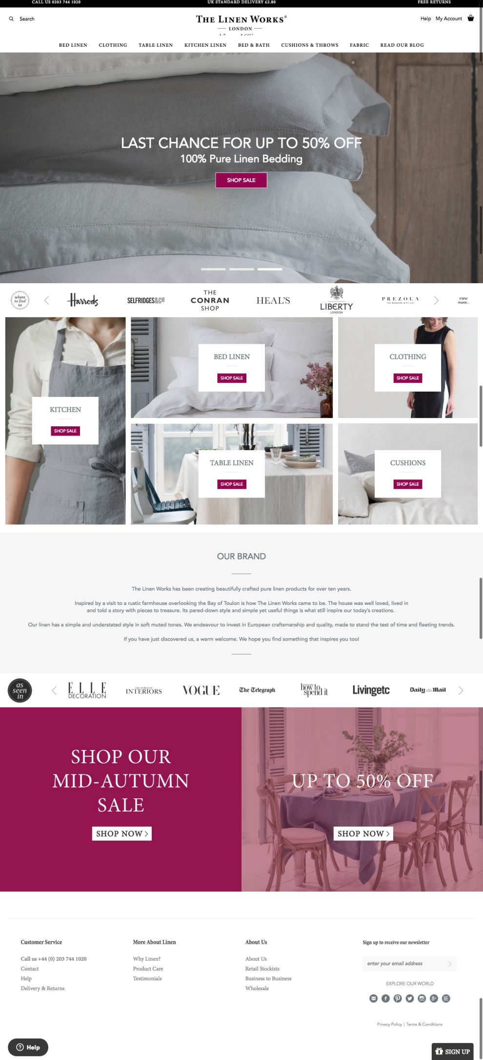 The Linen Works Corporate Homepage