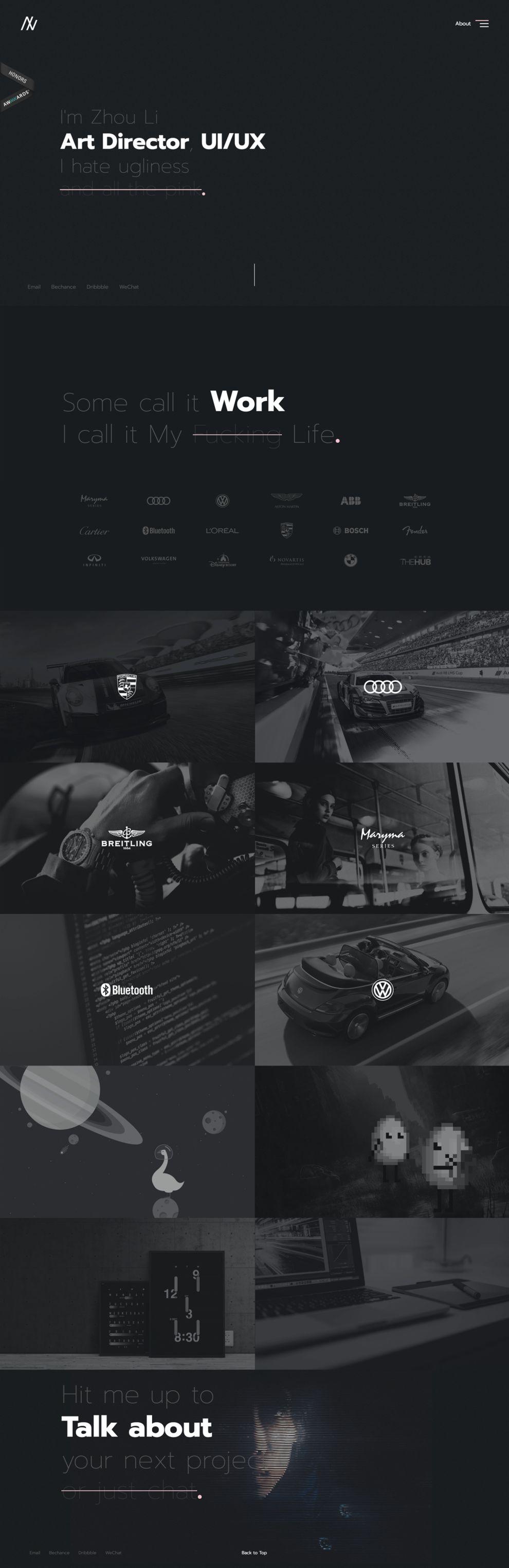 Vain Sid Elegant Homepage