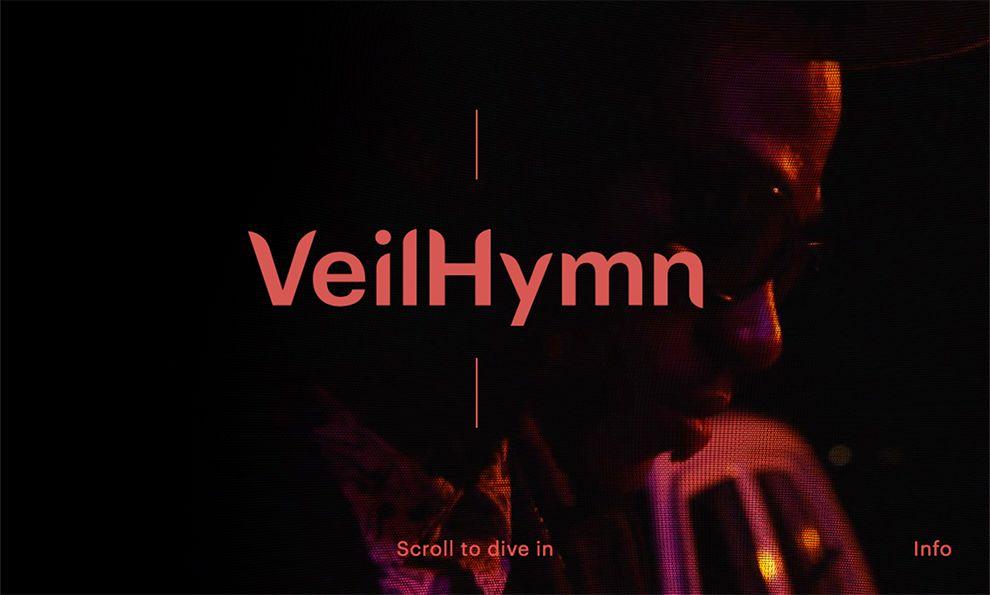 VeilHymn Beautiful Landing Page