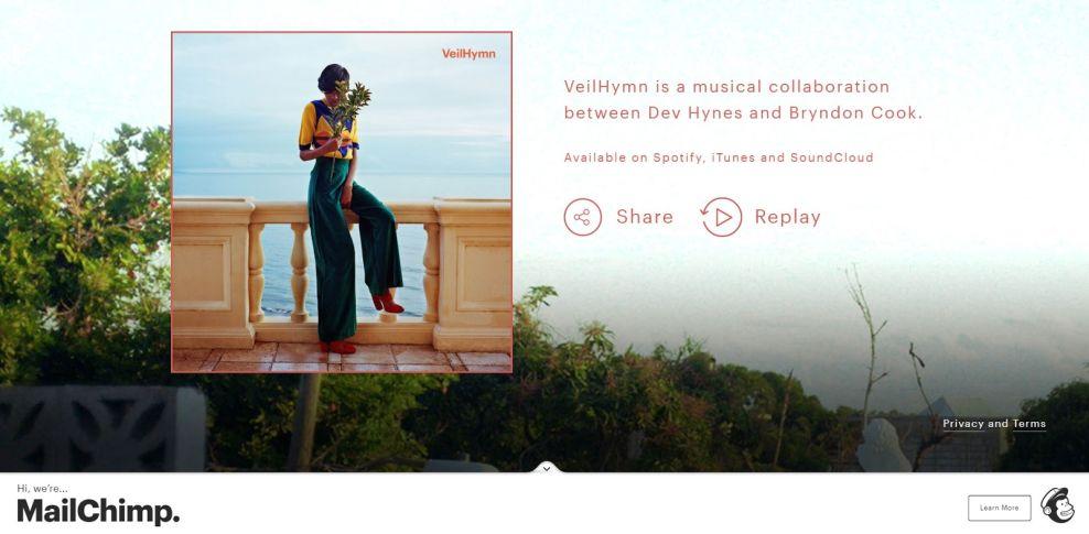 VeilHymn Beautiful Website Design