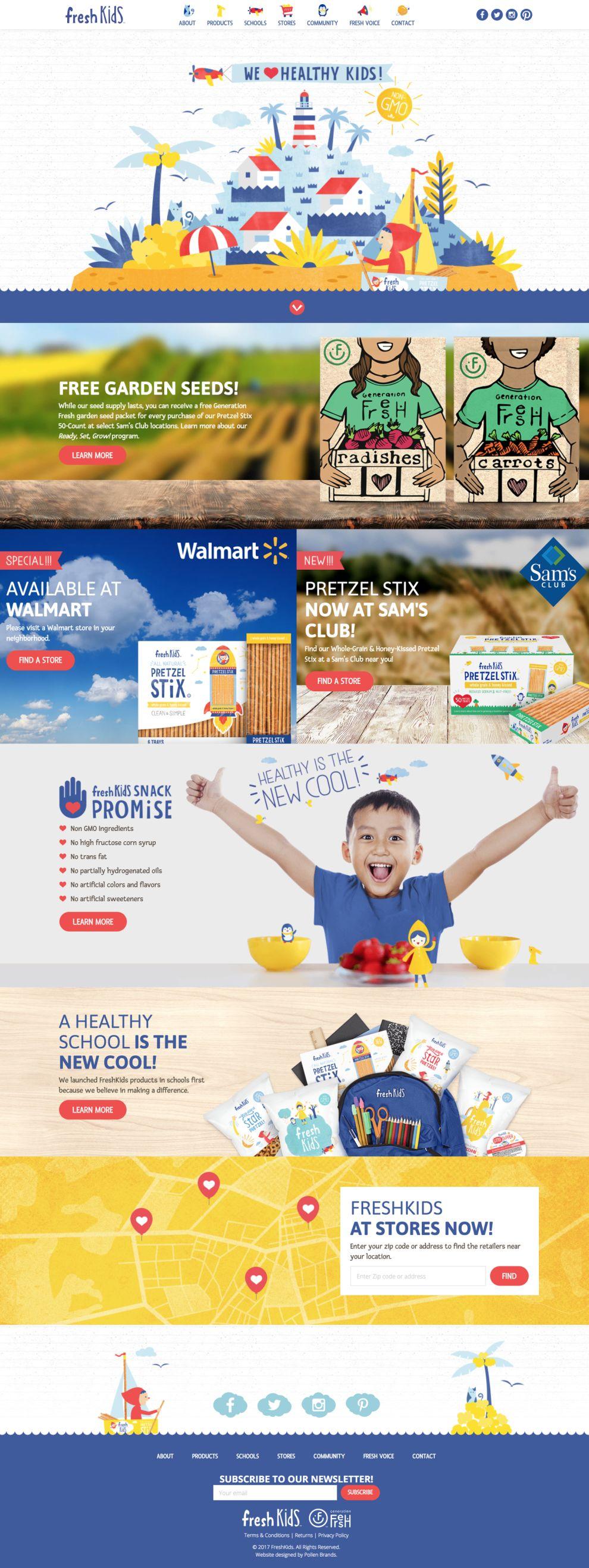 Fresh Kids Website Design Homepage