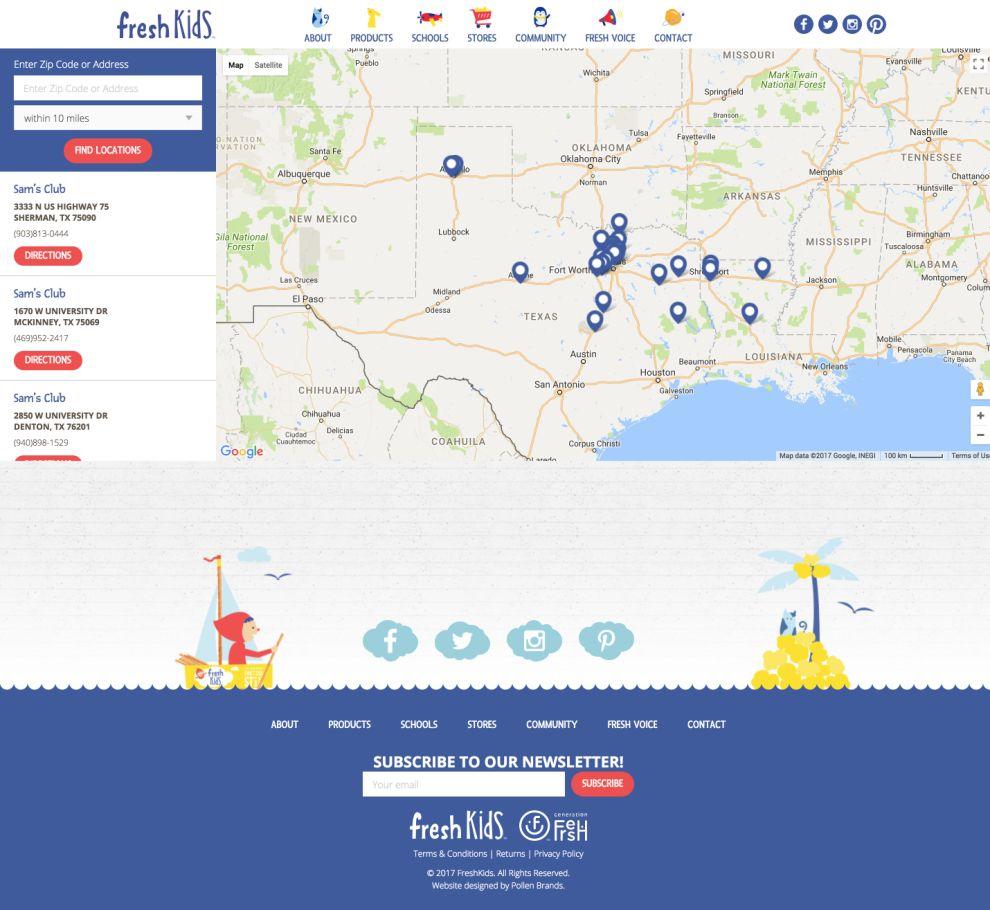 Fresh Kids Web Design Location