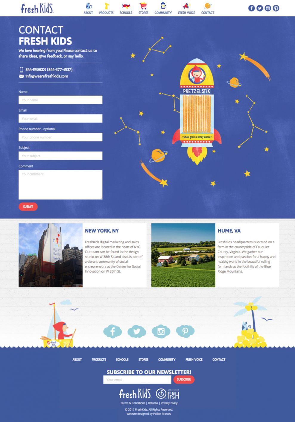 Fresh Kids Website Design Contact