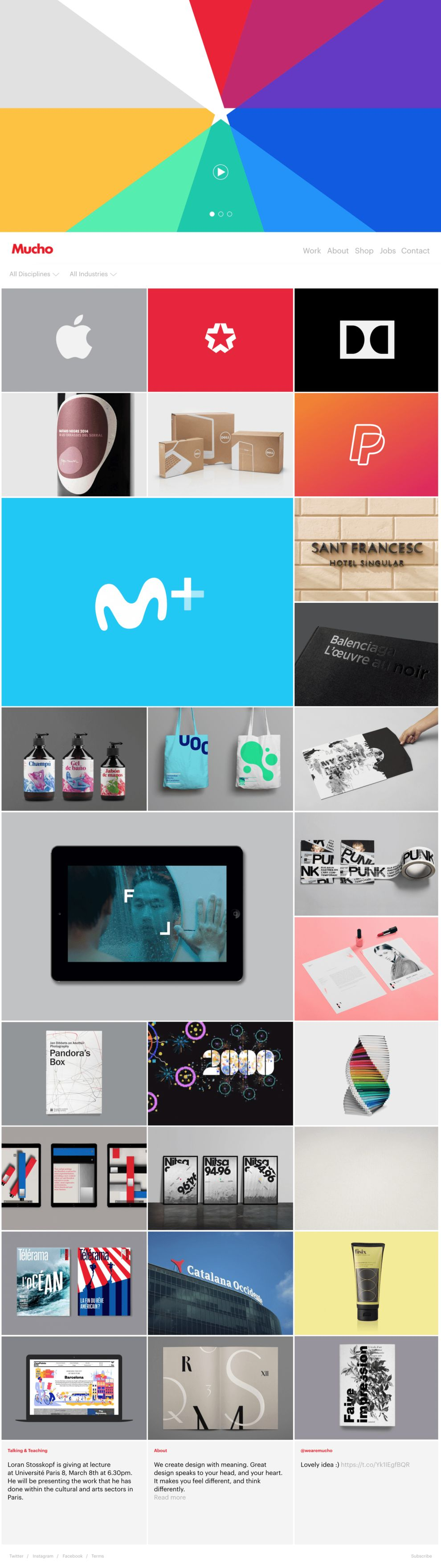 We Are Mucho Beautiful Homepage