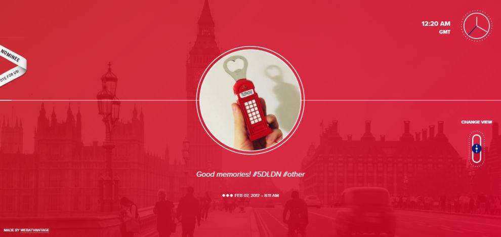 Web Atvantage: 5 Days in London Beautiful Homepage