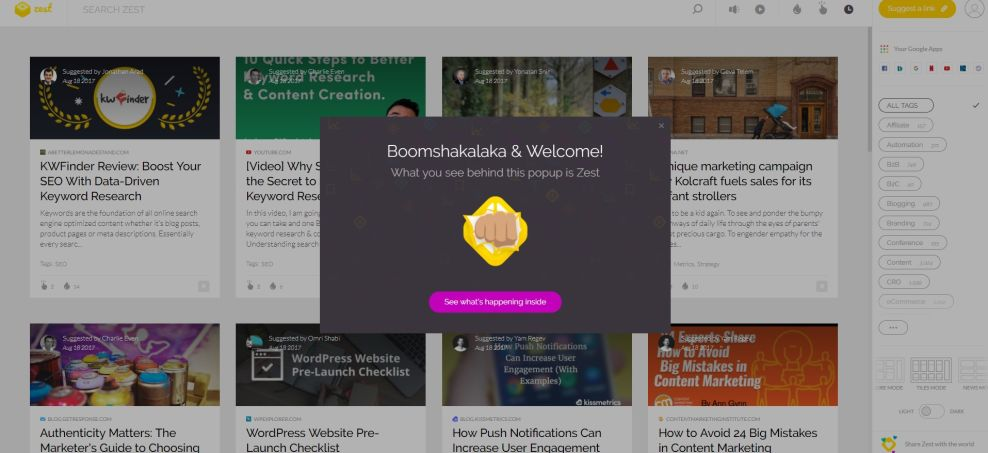 Zest Colorful Website Design