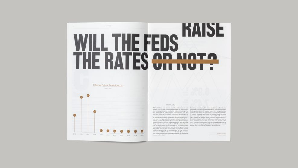 Capital Magazine Minimal Print Design