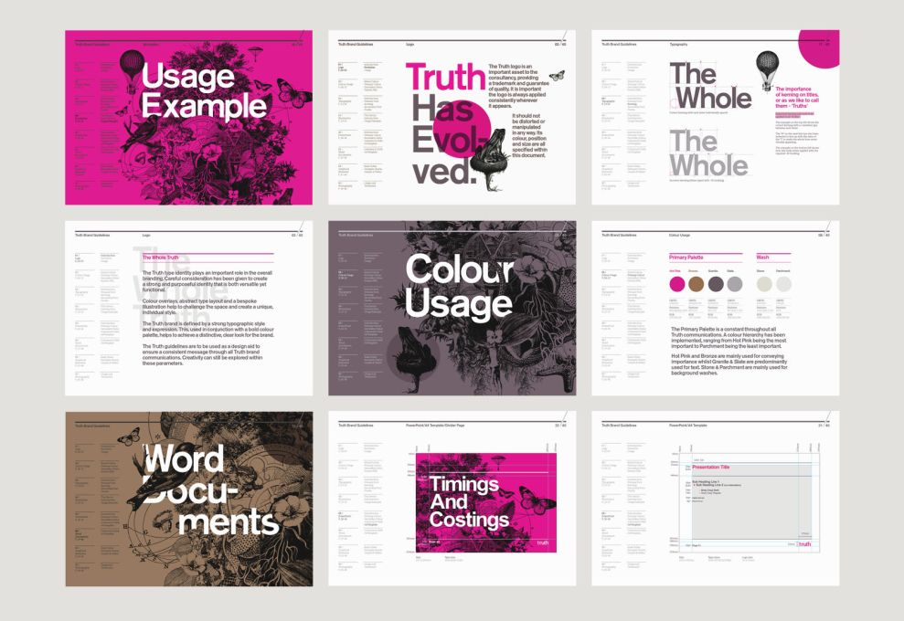 Truth Consulting Gorgeous Print Design