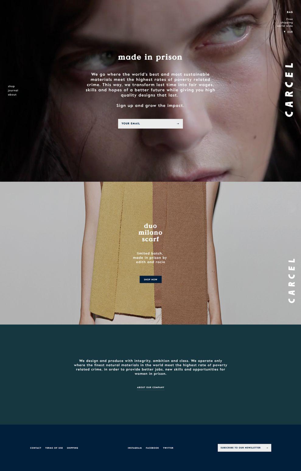 Carcel Clean Homepage