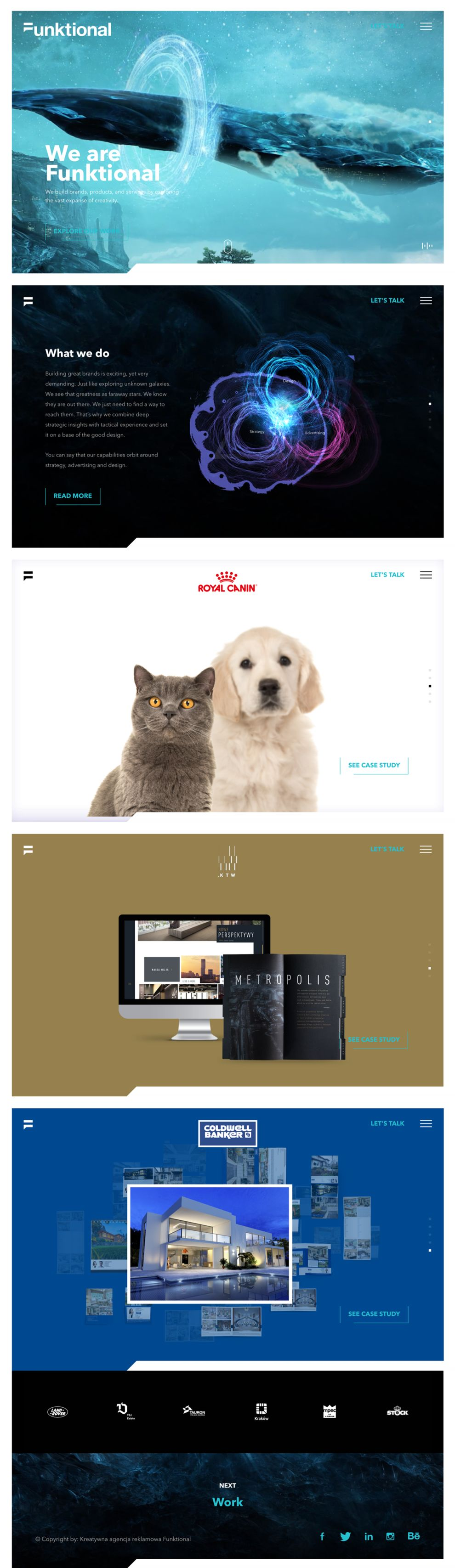 Funktional Stunning Homepage