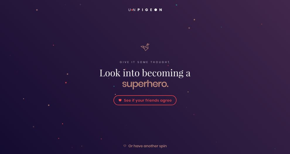 Unpigeon Beautiful Website Design