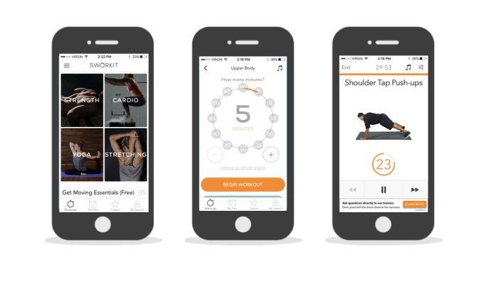 Sworkit User-Friendly App Design