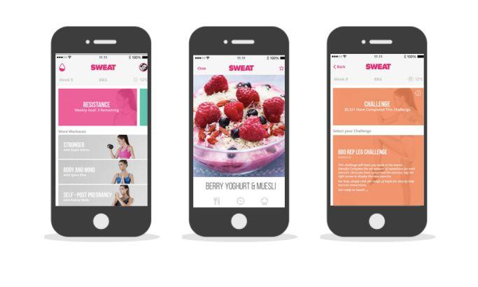 Sweat Kayla Itsines App Design