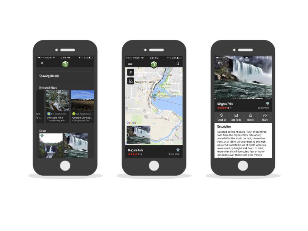Hiking Project Modern App Design