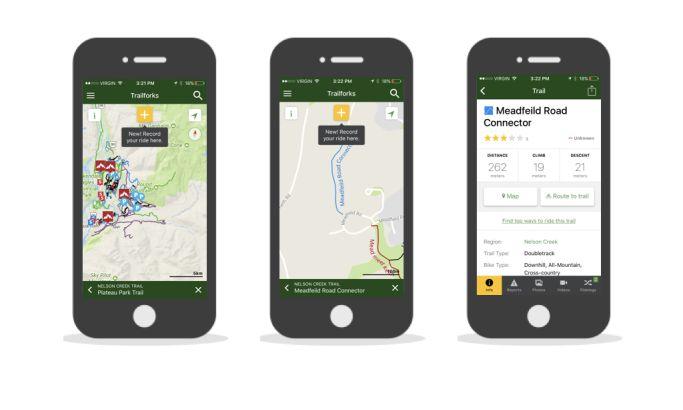 TrailforksClean App Design