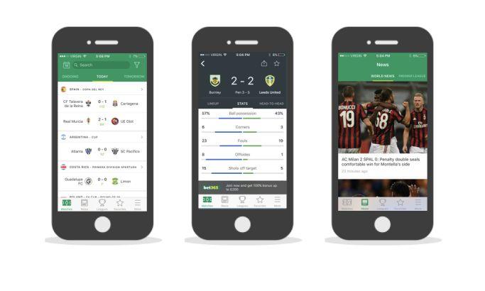 Soccer Scores Pro - Fotmob Clean App Design
