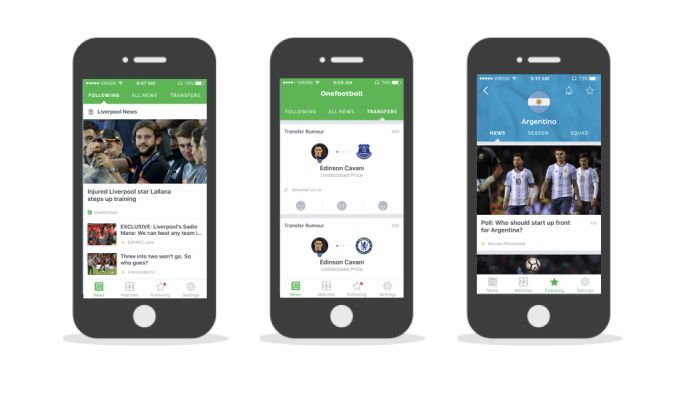 Onefootball Contemporary App Design