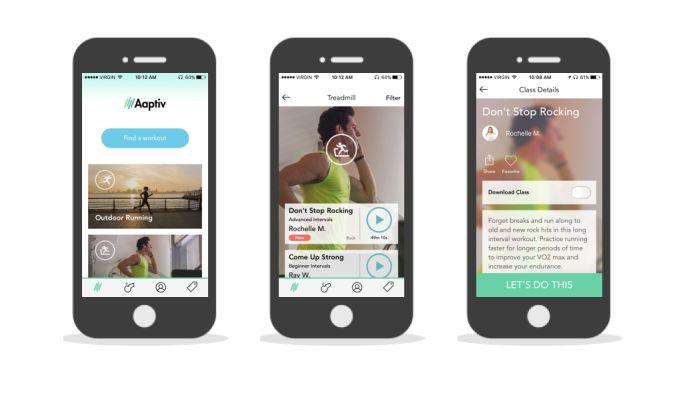 Aaptiv Gorgeous App Design