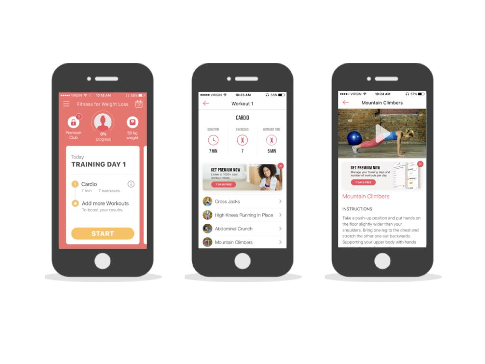 Fitness for Weight Loss User-Friendly App Design