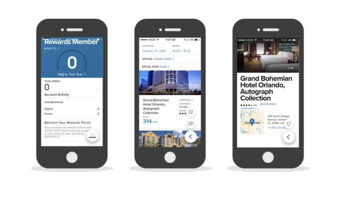Marriott International Corporate App Design