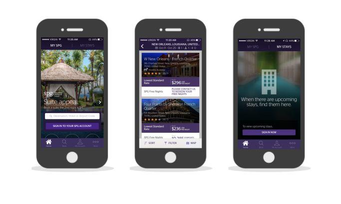 Starwood Preferred Guest Modern App Design