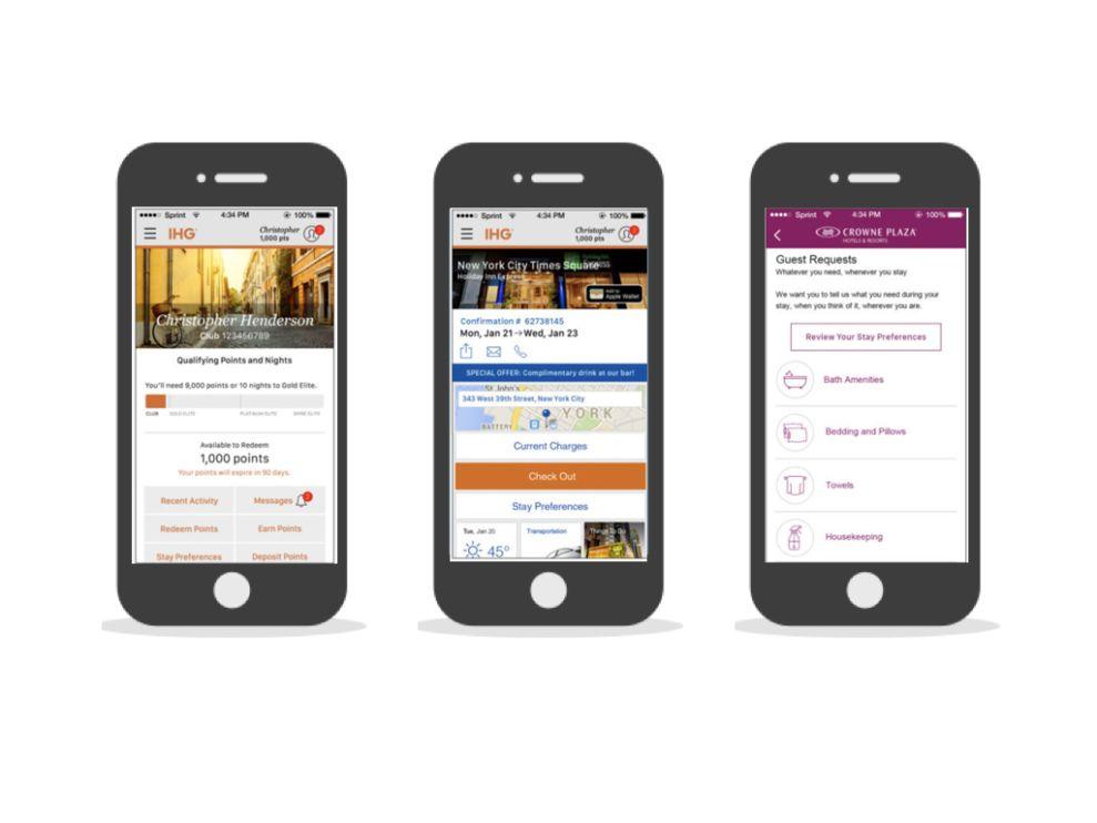 IHG Rewards Club Engaging App Design