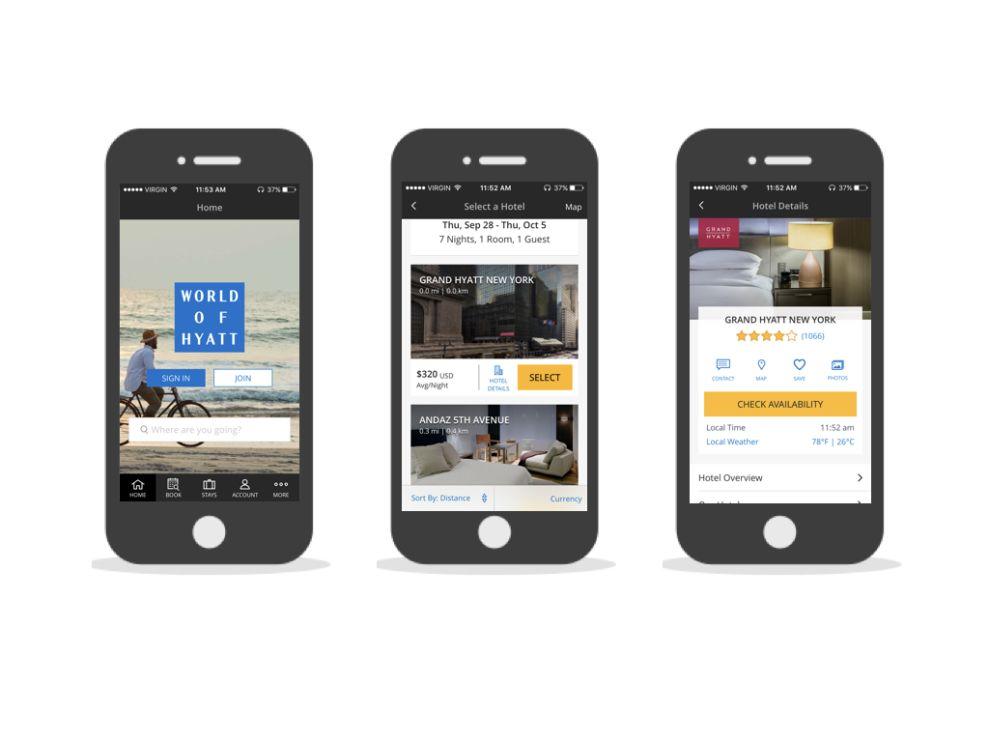 World of Hyatt Modern App Design