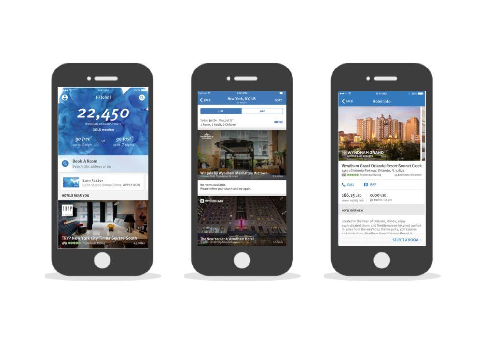 Wyndham Rewards Corporate App Design