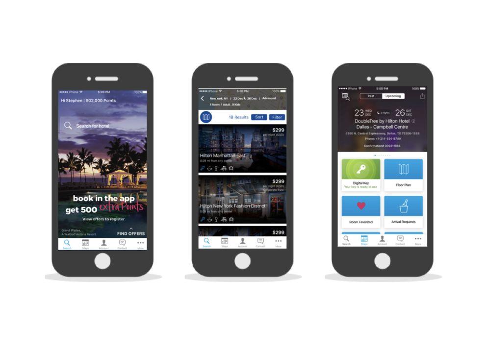 Hilton Honors Corporate App Design