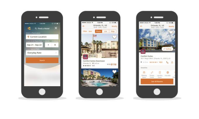 Choice Hotels Corporate App Design