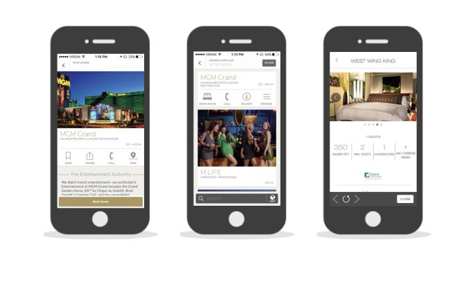 MGM Resorts International Elegant App Design
