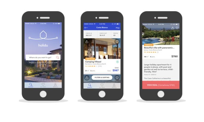 Holidu Elegant App Design