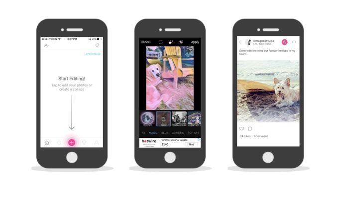 Picsart Clean App Design
