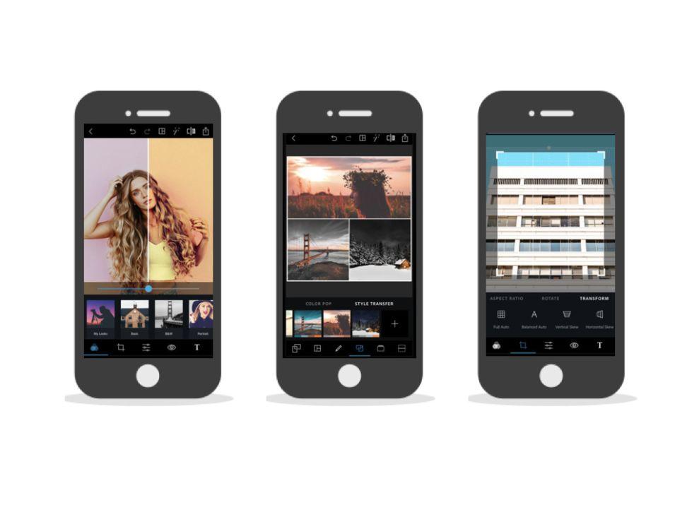Adobe Photoshop Express Elegant App Design
