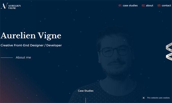 Aurelien Vigne Elegant Homepage