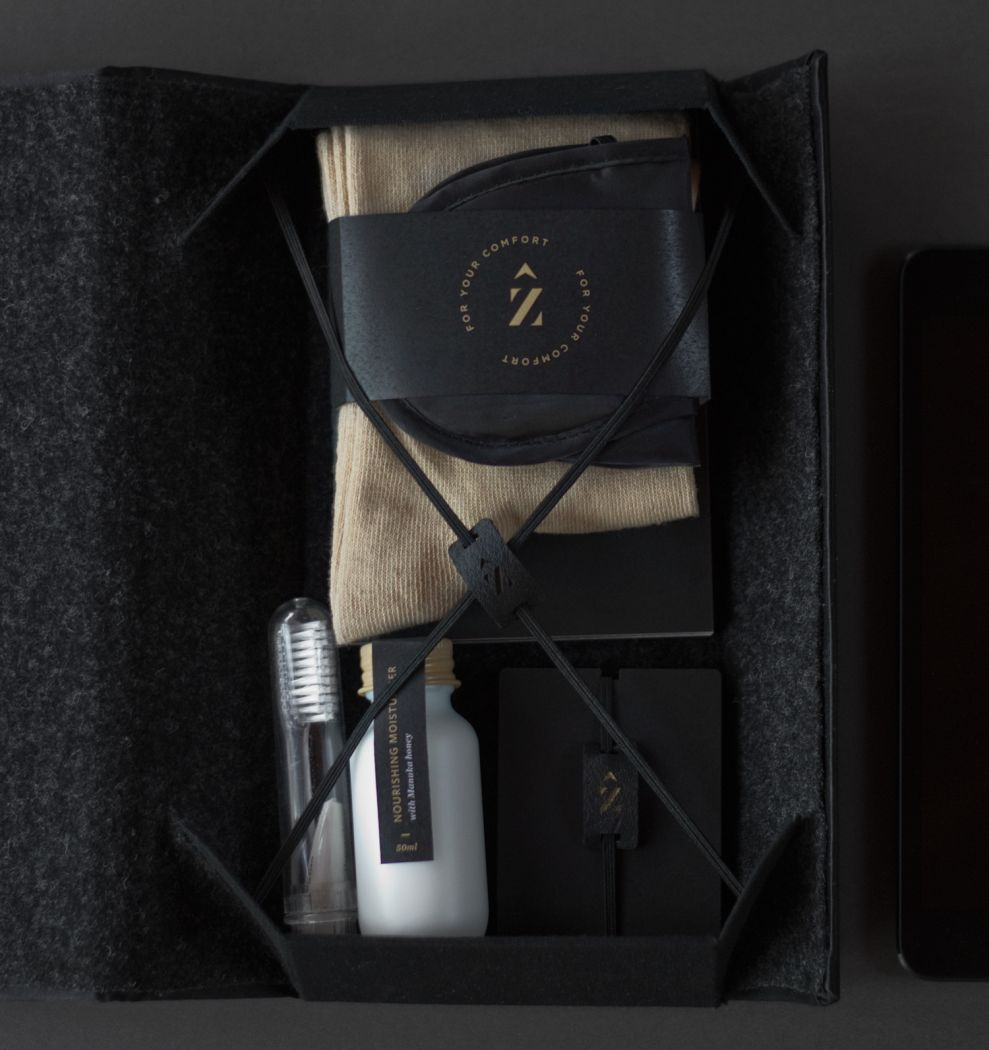 Zenith Premium Travel Kits Simple Package Design
