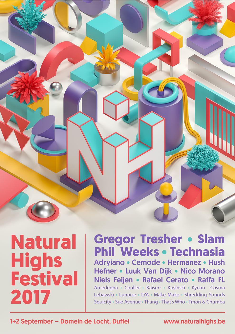 Natural Highs Festival 2017 Creative Print Design