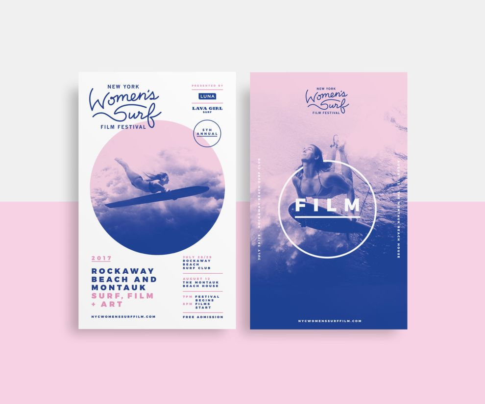 NYC Womens Surf Film Festival Awesome Print Design