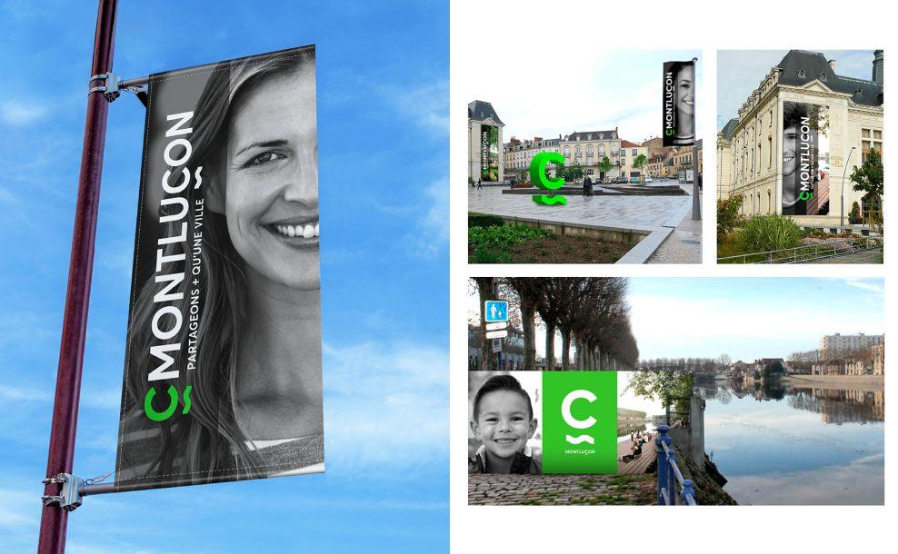 The City of Montluçon Clean Print Design